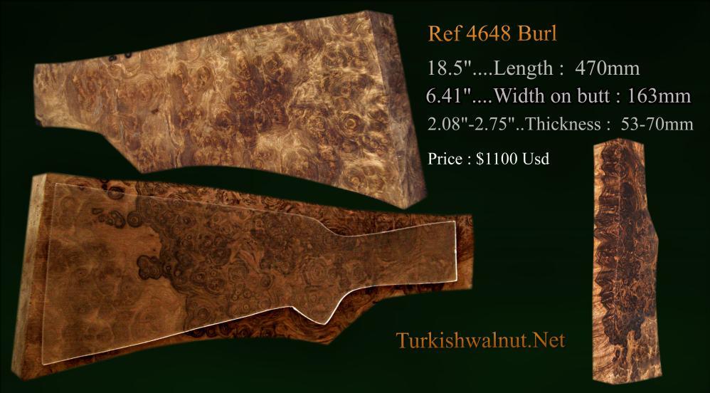 TurkishWalnut Net Gun stock blanks - Shotgun Blanks