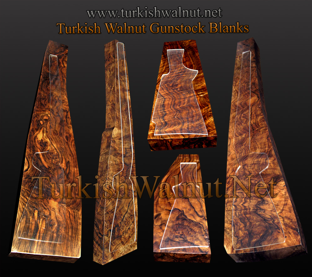 Turkish Walnut Gunstock Blanks